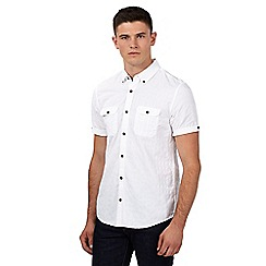 Red Herring - White textured short sleeved shirt