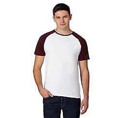 Red Herring - Dark red raglan sleeve t-shirt