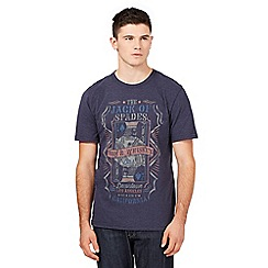 St George by Duffer - Big and tall navy 'Jack of Spades' t-shirt