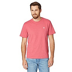 St George by Duffer - Big and tall pink embroidered crew neck t-shirt