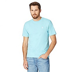 St George by Duffer - Turquoise embroidered crew neck t-shirt