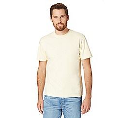 St George by Duffer - Yellow embroidered crew neck t-shirt