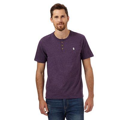 St George by Duffer Dark purple grandad t-shirt - . -