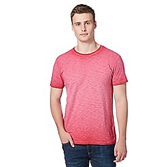 Red Herring - Red jersey oil wash t-shirt