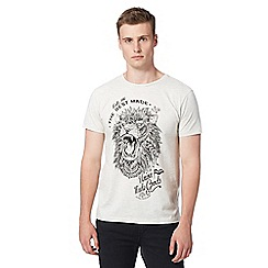 Red Herring - Dark cream lion print t-shirt