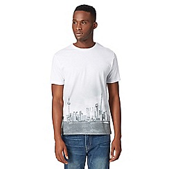 Red Herring - Big and tall white shanghai print crew neck t-shirt