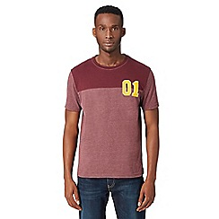 St George by Duffer - Big and tall red cut and sew '01' t-shirt
