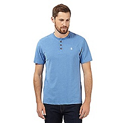 St George by Duffer - Bright blue logo grandad t-shirt