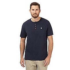 St George by Duffer - Navy logo grandad t-shirt