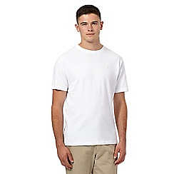 St George by Duffer - White logo embroidered crew neck t-shirt