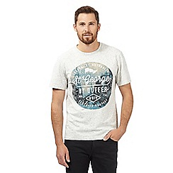 St George by Duffer - Big and tall white city logo print crew neck t-shirt