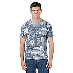 Red Herring - Grey 'Vegas' crew neck t-shirt