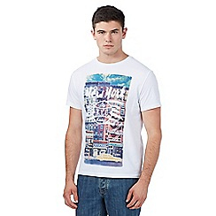 Red Herring - Big and tall white 'new york city' print t-shirt