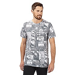 Red Herring - Big and tall grey 'New York City' collage t-shirt