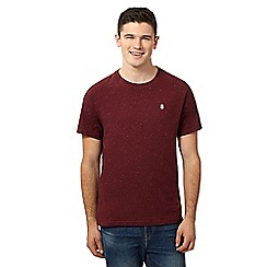 St George by Duffer - Big and tall dark red speckled t-shirt