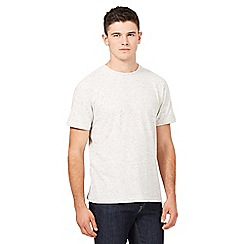 St George by Duffer - Big and tall dark cream neppy t-shirt