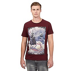 Red Herring - Dark red snowman t-shirt