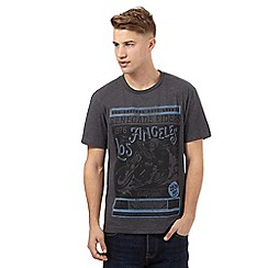 St George by Duffer - Big and tall dark grey 'Los Angeles' t-shirt