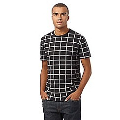 Red Herring - Black rope checked t-shirt