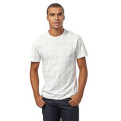 Red Herring - Big and tall off white checked t-shirt