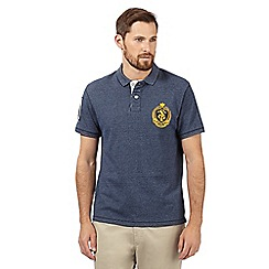 St George by Duffer - Navy logo pique polo shirt