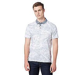 Red Herring - White reverse hawaiian print polo shirt