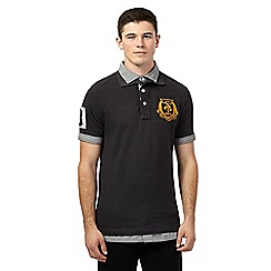 St George by Duffer - Big and tall dark grey layered polo top