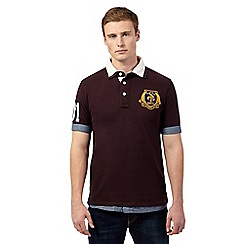 St George by Duffer - Big and tall brown layered collar polo
