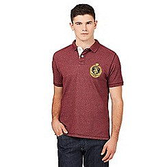 St George by Duffer - Big and tall dark red pique polo shirt