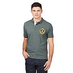 St George by Duffer - Big and tall dark green pique polo shirt