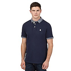 St George by Duffer - Navy stripe trim polo shirt