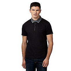Red Herring - Black double collar polo shirt