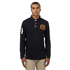 St George by Duffer - Navy logo polo shirt
