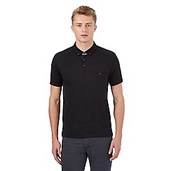 Red Herring - Black spotted front panel polo