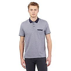 Red Herring - Blue jacquard dot polo shirt