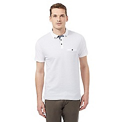 Red Herring - White pin dot polo shirt