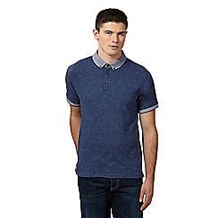Red Herring - Blue speckled pique collar polo shirt