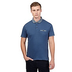 Red Herring - Blue smart polo shirt