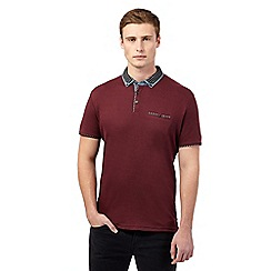 Red Herring - Dark red cutaway collar polo shirt
