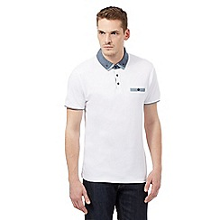 Red Herring - White chambray polo shirt