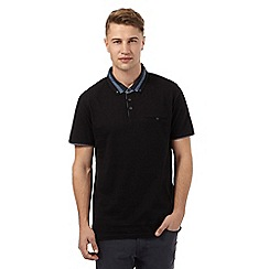 Red Herring - Black stripe collar polo shirt