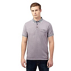Red Herring - Grey pique collar polo shirt
