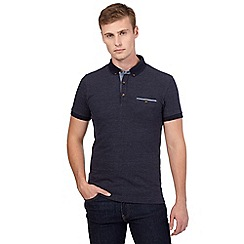 Red Herring - Navy polka dot polo shirt