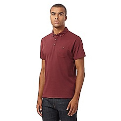 Red Herring - Maroon jersey polo shirt