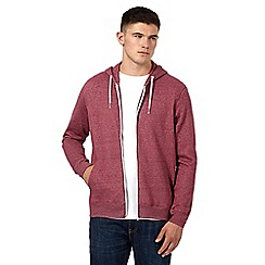 Red Herring - Red marl zip hoodie
