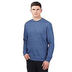 Red Herring - Navy cotton twist crew neck jumper