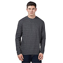 Red Herring - Dark grey grindle crew sweater