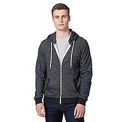 Red Herring - Navy speckled zip through hoodie