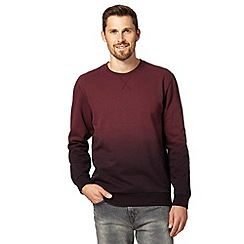 Red Herring - Dark red dip dye sweater