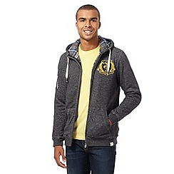 St George by Duffer - Big and tall dark grey embroidered logo hoodie